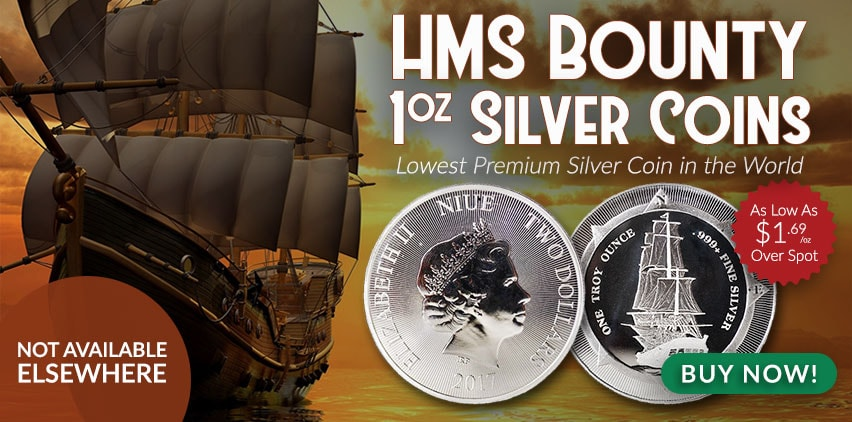 Money Metals Exchange: Exclusive New Zealand Mint HMS Bounty 1 oz Silver Coin