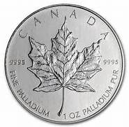 One ounce palladiun maple leaf