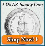 1 Oz New Zealand Bounty Silver Coin | Shop Now!