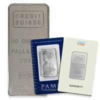 Buy Palladium Bars