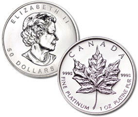 Canadian Maple Leaf Platinum Coin (1 Oz)