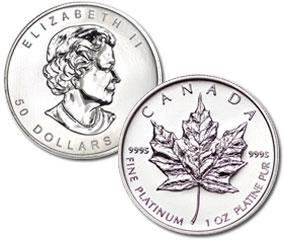 Canadian Maple Leaf Platinum Coin (1 Oz)