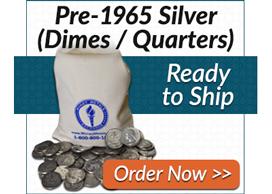 90% Junk Silver (Dimes/Quarters) | Order Now >>