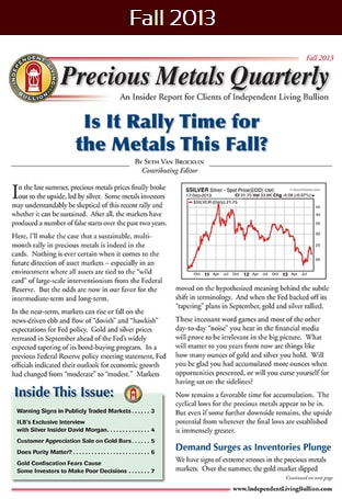 Precious Metals Quarterly Fall 2012