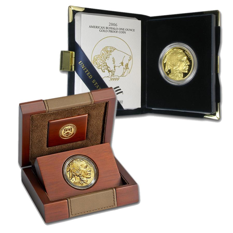 Proof Gold Buffalo in Box w/ COA