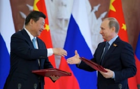 Putin strengthening ties with China