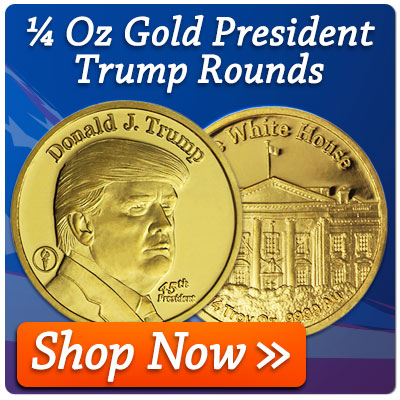 1/4 Oz Gold Trump Rounds