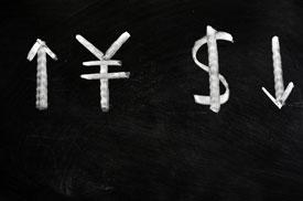 Yuan Rises, Dollar Falls