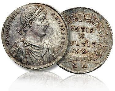 Sound money is believed to come from Rome's small silver coins