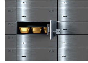 Safety deposit box or commercial vault to hold your precious metals