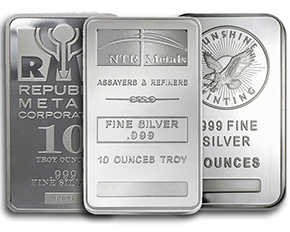 silver bar sizes