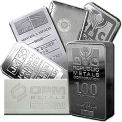 Silver bars are less expensive than bullion coins