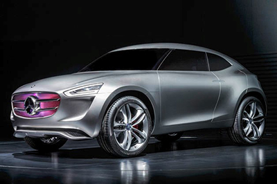 Mercedes-Benz Vision silver-coated G-Code