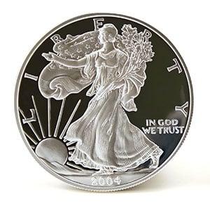 silver eagle coin obverse