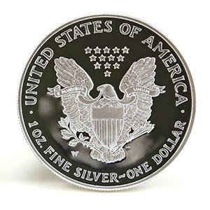 silver eagle coin reverse