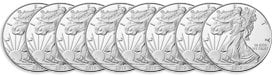 Value of 50 Silver Eagle Coins