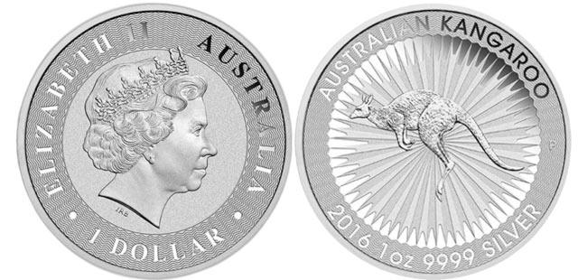 Silver Australian Kangaroo Coin - 1 oz