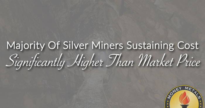Majority Of Silver Miners Sustaining Cost Higher Than Market Price