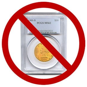 Slabbed Gold Coin
