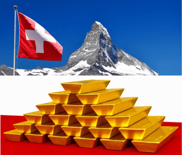 The Swiss National Bank might be required to hold 20% of its assets in gold
