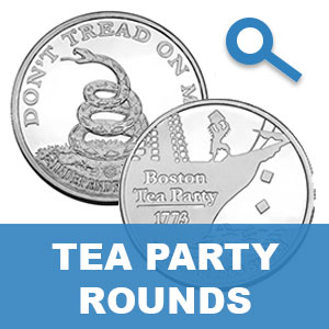 Tea Party Silver Rounds