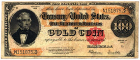 U.S. $100 Gold Coin Certificates