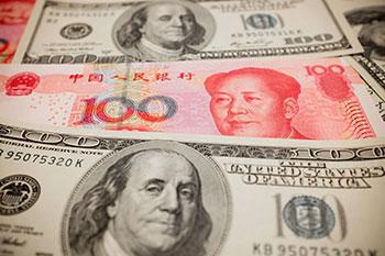 US Dollar vs Chinese Yuan