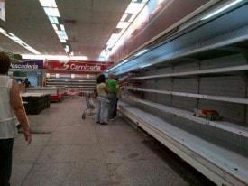 Empty Venezuela Grocery Store