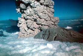 Volcano with Ash Cloud