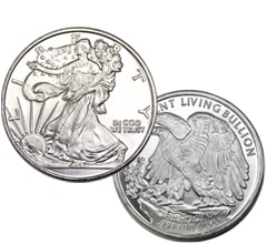 1 oz silver Walking Liberty round
