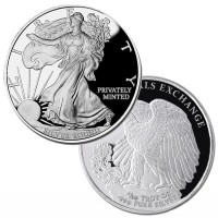 Walking Liberty Rounds (1/10 oz)