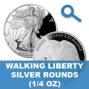 Walking Liberty Quarter Ounce Silver Rounds