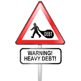 Warning Heavy Debt