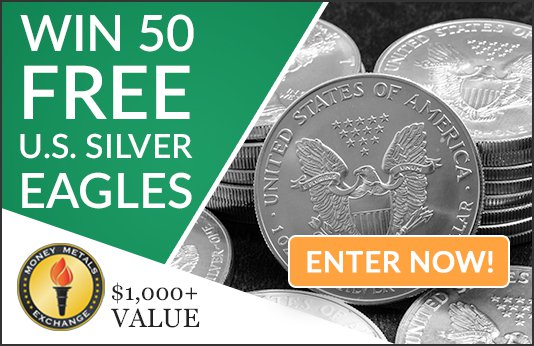Win 50 Silver Eagles from Money Metals Exchange